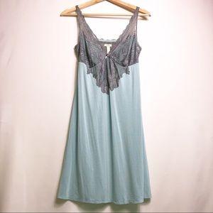 Soma Light Blue Lace Lingerie Slip On S